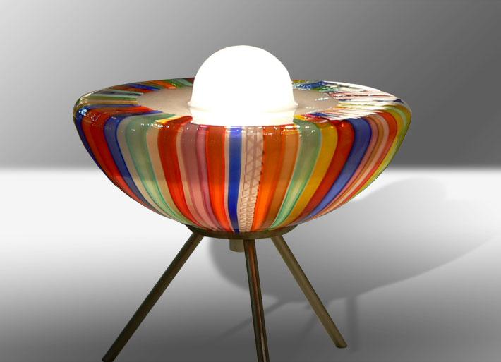Lampade In Vetro Di Murano : Design lampade in vetro di murano con lavorazione a canne