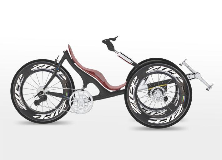Design Veicoli Trike Bicicletta Da Corsa Recumbent